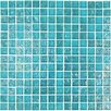 "Onix USA Geo 4/5"" x 4/5"" Glass Frosted Mosaic in Blue"