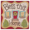<strong>Glory Haus</strong> Bless This Home Graphic Art on Canvas