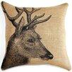 TheWatsonShop Deer Burlap Pillow