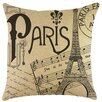 TheWatsonShop Paris Burlap Pillow