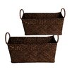 WaldImports Seagrass Reed Basket (Set of 2)