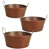 WaldImports Hammered Metal Bowl (Set of 3)