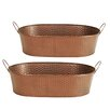 WaldImports Oval Pot Planter (Set of 2)