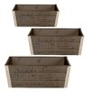 WaldImports Rectangle Rail Planter (Set of 2)
