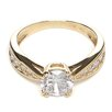 Precious Stars 14K Gold Round Cubic Zirconia Pave Engagement Ring