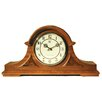 <strong>River City Clocks</strong> Traditional Chiming Mantel Clock in Medium Oak