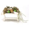Distinctive Designs Everything That Glitters Removable Insert of Jeweled Poinsettias and Ornament in Mirrored Box