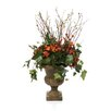 Distinctive Designs Silk Bud Branches, Draping Ivy, Berries and Hydrangeas in Classic Urn