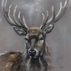 Art Group Stag Canvas Art by Louise Brown