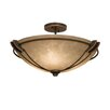 Kalco Grande 3 Light Semi Flush Mount