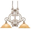 <strong>Hamilton 2 Light Kitchen Island Pendant in Antique Copper</strong> by Kalco