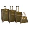 <strong>Adrienne Vittadini</strong> Paisley 4 Piece Luggage Set