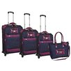 Adrienne Vittadini Diamond Jacquard 4 Piece Luggage Set