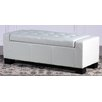 Home Loft Concept Jarius Leather Storage Ottoman