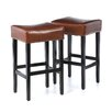 "<strong>Home Loft Concept</strong> George Backless 31"" Leather Bar Stool (Set of 2)"