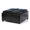 <strong>Hughes Leather Cube Storage Ottoman</strong> by Home Loft Concept