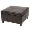 <strong>Home Loft Concept</strong> Stenson Leather Storage Ottoman