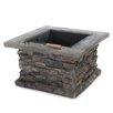 Seymour Natural Stone Square Fire Pit