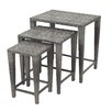 Home Loft Concept Helsinki 3 Piece Outdoor Side Table Set