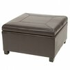 <strong>Home Loft Concept</strong> Bostonian Leather Storage Ottoman