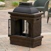 <strong>Home Loft Concept</strong> Barbados Outdoor Copper Stone Chiminea Fireplace