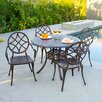 Home Loft Concept Cosette 5 Piece Cast Aluminum Copper Outdoor Dining Set