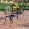 <strong>Home Loft Concept</strong> Gibraltar Cast Aluminum Outdoor Chair (Set of 2)