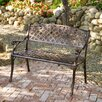 Home Loft Concept Candace Cast Aluminum Copper Outdoor Bench