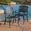 <strong>Home Loft Concept</strong> Sydney Sand Cast Aluminum Outdoor Chair (Set of 2) (Set of 2)