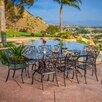 Home Loft Concept Topanga 9 Piece Aluminum Copper Outdoor Dining Set