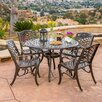 <strong>Home Loft Concept</strong> Griffen 5 Piece Cast Aluminum Outdoor Dining Set