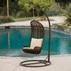 Home Loft Concept Zaragoza Wicker Outdoor Porch Swing with Stand