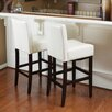 <strong>Home Loft Concept</strong> Georgia Leather Bar Stool (Set of 2) (Set of 2)