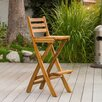 <strong>Home Loft Concept</strong> Banyard Foldable Outdoor Wood Barstool