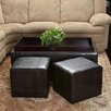 <strong>Home Loft Concept</strong> Drea Ottoman (Set of 3)