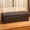 Home Loft Concept Landis Leather Storage Bedroom Bench