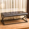 Home Loft Concept Hallvard Leather Entryway Bench
