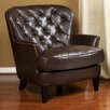 <strong>Peyton Tufted Leather Club Chair</strong> by Home Loft Concept