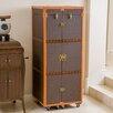 Home Loft Concept Brisco Rolling Bar Cabinet