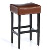 "Home Loft Concept George Backless 31"" Leather Bar Stool (Set of 2)"