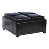 Home Loft Concept Hughes Leather Cube Storage Ottoman
