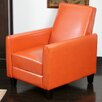 Home Loft Concept Rodgers Faux Leather Recliner Club Chair