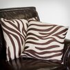 "Home Loft Concept Sahara 18"" Zebra Pillows (Set of 2)"