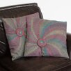 "<strong>Home Loft Concept</strong> Harmony 18"" Flannel Starburst Pillows (Set of 2) (Set of 2)"