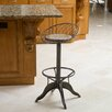 <strong>Alonso Weathered Wood Barstool</strong> by Home Loft Concept
