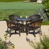 Home Loft Concept Andre 5 Piece Wicker Dining Set