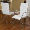 Home Loft Concept Justin Leather and Chrome Chairs (Set of 2)