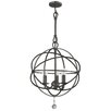 Crystorama Chloe 3 Light Mini Foyer Pendant