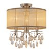 Crystorama Hampton 3 Light Semi Flush Mount