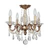 Crystorama Delancey 4 Light Semi Flush Mount